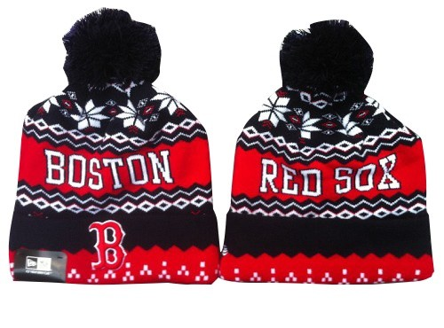 MLB Boston Red Sox Stitched Knit Beanies Hats 013