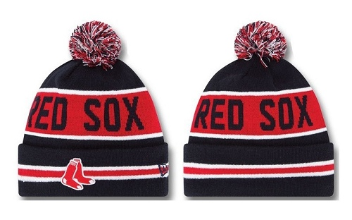 MLB Boston Red Sox Stitched Knit Beanies Hats 015
