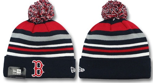 MLB Boston Red Sox Stitched Knit Beanies Hats 016