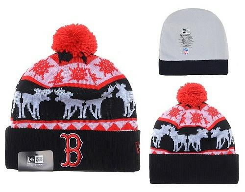 MLB Boston Red Sox Stitched Knit Beanies Hats 018