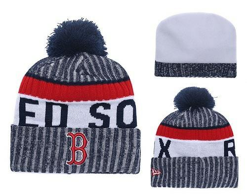 MLB Boston Red Sox Stitched Knit Beanies Hats 019