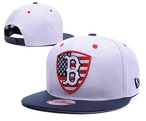 MLB Boston Red Sox Stitched Snapback Hats 003