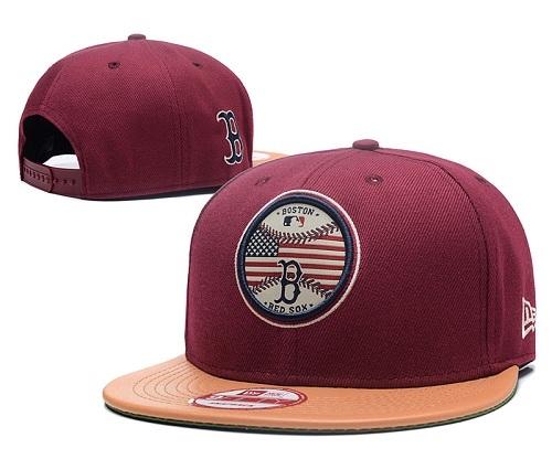 MLB Boston Red Sox Stitched Snapback Hats 009