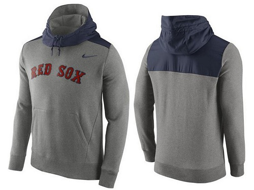 MLB Men's Boston Red Sox Nike Gray Hybrid Hoodie