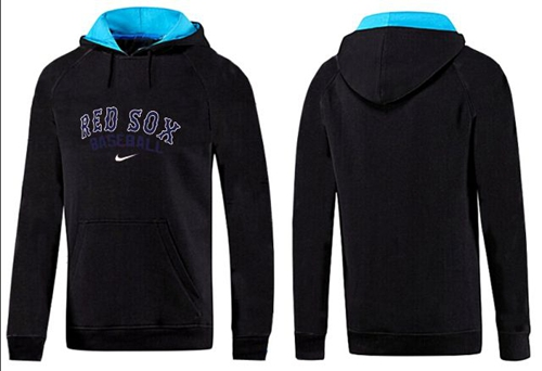 MLB Men's Nike Boston Red Sox Pullover Hoodie - Black/Blue
