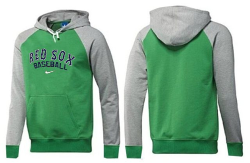 MLB Men's Nike Boston Red Sox Pullover Hoodie - Green/Grey
