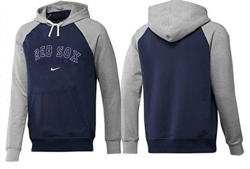 MLB Men's Nike Boston Red Sox Pullover Hoodie - Navy/Grey