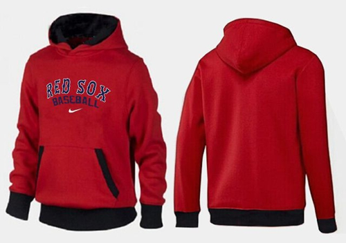 MLB Men's Nike Boston Red Sox Pullover Hoodie - Red/Black