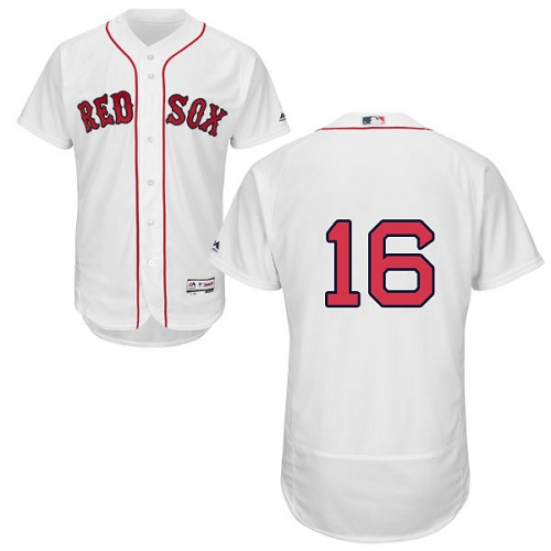Men's Majestic Boston Red Sox #16 Andrew Benintendi White Flexbase Authentic Collection MLB Jersey