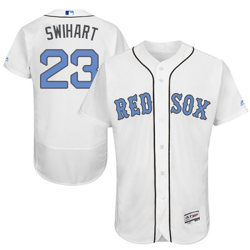 Men's Majestic Boston Red Sox #23 Blake Swihart Authentic White 2016 Father's Day Fashion Flex Base MLB Jersey
