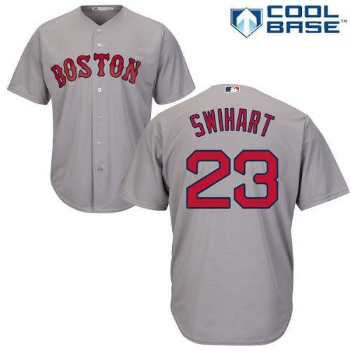 Men's Majestic Boston Red Sox #23 Blake Swihart Replica Grey Road Cool Base MLB Jersey