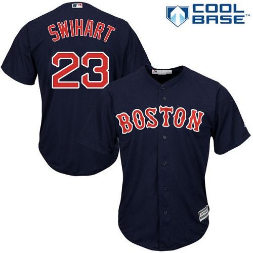 Men's Majestic Boston Red Sox #23 Blake Swihart Replica Navy Blue Alternate Road Cool Base MLB Jersey