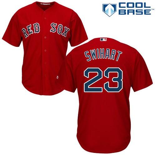 Men's Majestic Boston Red Sox #23 Blake Swihart Replica Red Alternate Home Cool Base MLB Jersey