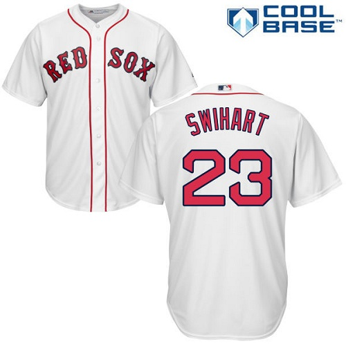 Men's Majestic Boston Red Sox #23 Blake Swihart Replica White Home Cool Base MLB Jersey