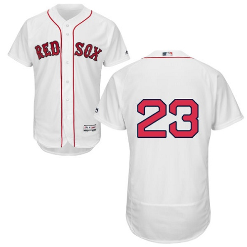 Men's Majestic Boston Red Sox #23 Blake Swihart White Home Flex Base Authentic Collection MLB Jersey