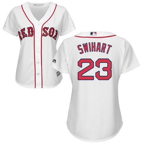 Women's Majestic Boston Red Sox #23 Blake Swihart Replica White Home MLB Jersey