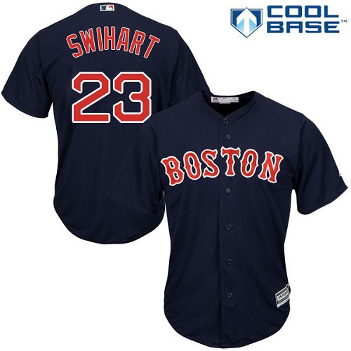 Youth Majestic Boston Red Sox #23 Blake Swihart Authentic Navy Blue Alternate Road Cool Base MLB Jersey