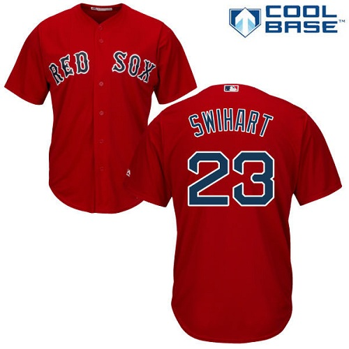Youth Majestic Boston Red Sox #23 Blake Swihart Authentic Red Alternate Home Cool Base MLB Jersey