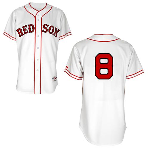 Men's Majestic Boston Red Sox #8 Carl Yastrzemski Authentic White 1936 Turn Back The Clock MLB Jersey
