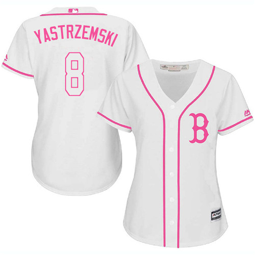 cheaper c3c6f 598a5 Women's Carl Yastrzemski Boston Red Sox #8 White MLB Jersey