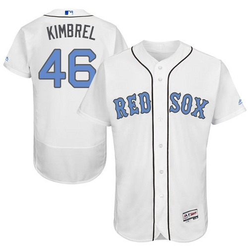 Men's Majestic Boston Red Sox #46 Craig Kimbrel Authentic White 2016 Father's Day Fashion Flex Base MLB Jersey