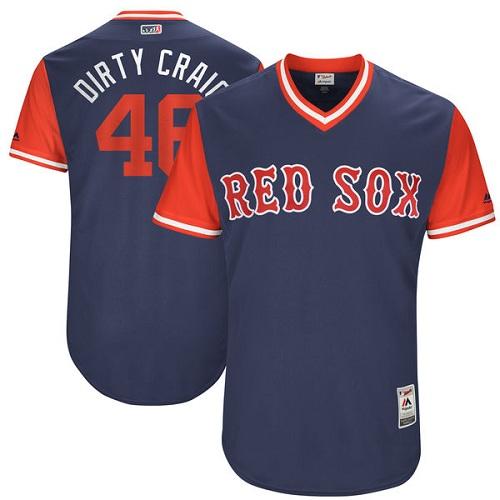 Men's Majestic Boston Red Sox #46 Craig Kimbrel