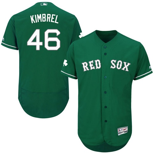 Men's Majestic Boston Red Sox #46 Craig Kimbrel Green Celtic Flexbase Authentic Collection MLB Jersey