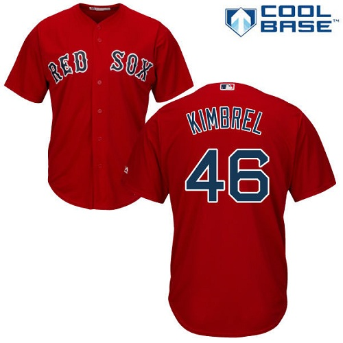 Men's Majestic Boston Red Sox #46 Craig Kimbrel Replica Red Alternate Home Cool Base MLB Jersey