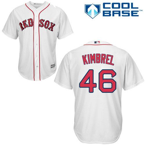 Men's Majestic Boston Red Sox #46 Craig Kimbrel Replica White Home Cool Base MLB Jersey