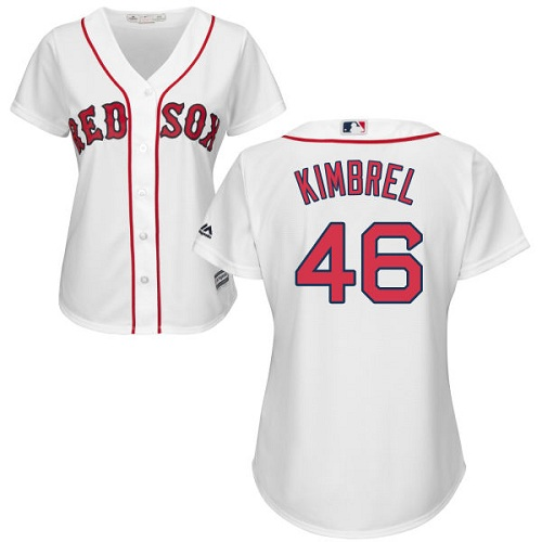 Women's Majestic Boston Red Sox #46 Craig Kimbrel Authentic White Home MLB Jersey