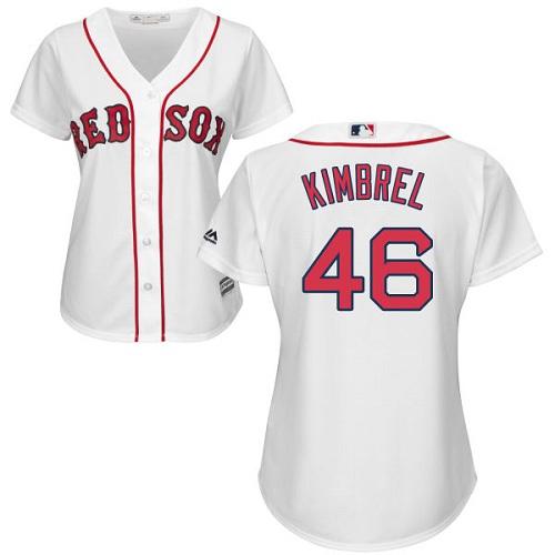 Women's Majestic Boston Red Sox #46 Craig Kimbrel Replica White Home MLB Jersey