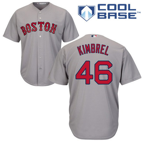Youth Majestic Boston Red Sox #46 Craig Kimbrel Authentic Grey Road Cool Base MLB Jersey