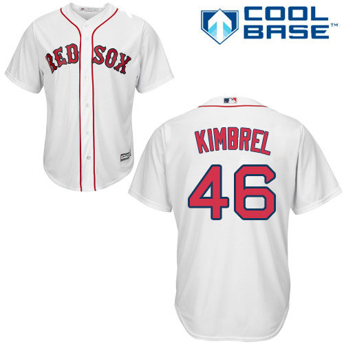 Youth Majestic Boston Red Sox #46 Craig Kimbrel Authentic White Home Cool Base MLB Jersey