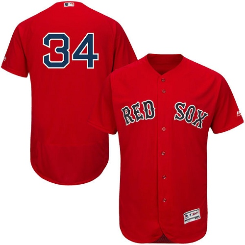 Men's Majestic Boston Red Sox #34 David Ortiz Red Alternate Flex Base Authentic Collection MLB Jersey