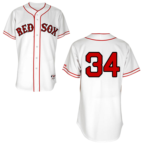 Men's Majestic Boston Red Sox #34 David Ortiz Replica White 1936 Turn Back The Clock MLB Jersey