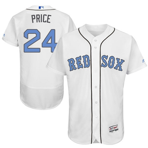 Men's David Price Boston Red Sox #24 White 2016 Father's Day MLB Jersey