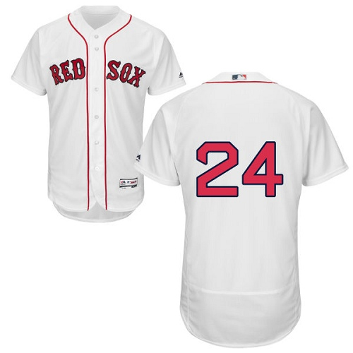 Men's Majestic Boston Red Sox #24 David Price White Home Flex Base Authentic Collection MLB Jersey
