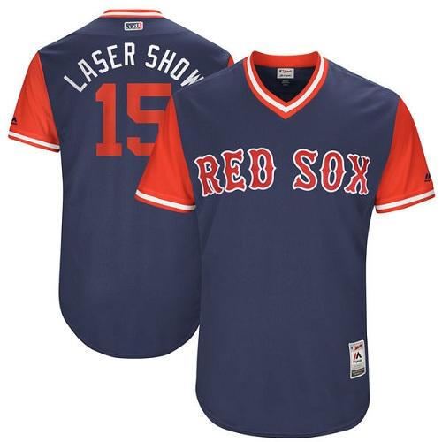 Men's Majestic Boston Red Sox #15 Dustin Pedroia