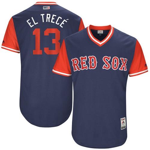 Men's Majestic Boston Red Sox #13 Hanley Ramirez