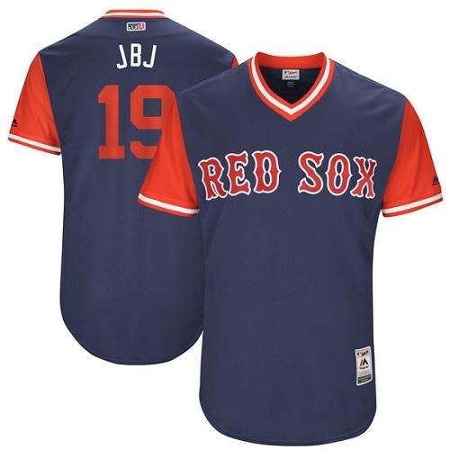 Men's Majestic Boston Red Sox #19 Jackie Bradley Jr