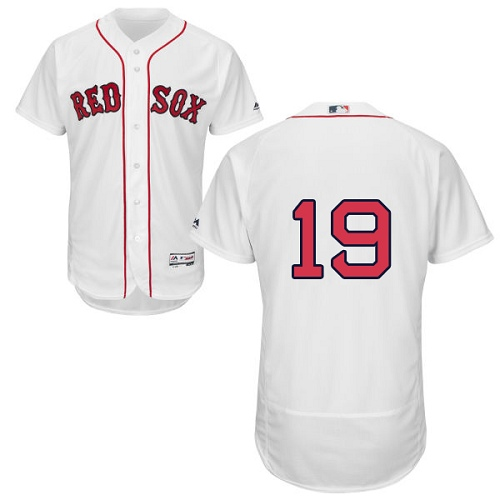 Men's Majestic Boston Red Sox #19 Jackie Bradley Jr White Flexbase Authentic Collection MLB Jersey