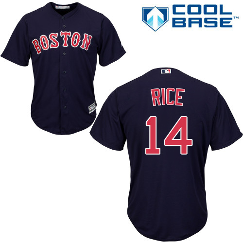 Youth Majestic Boston Red Sox #14 Jim Rice Authentic Navy Blue Alternate Road Cool Base MLB Jersey