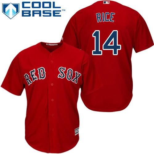 Youth Majestic Boston Red Sox #14 Jim Rice Authentic Red Alternate Home Cool Base MLB Jersey