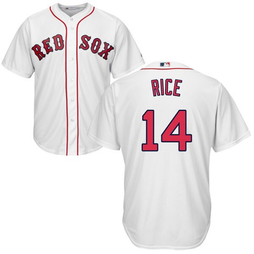 Youth Majestic Boston Red Sox #14 Jim Rice Authentic White Home Cool Base MLB Jersey
