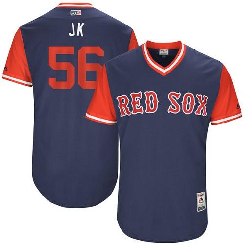 Men's Majestic Boston Red Sox #56 Joe Kelly