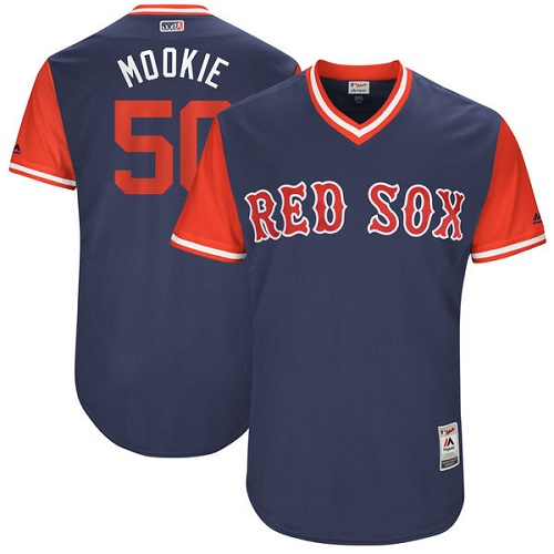 Men's Majestic Boston Red Sox #50 Mookie Betts