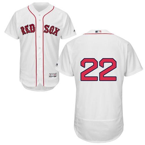 Men's Majestic Boston Red Sox #22 Rick Porcello White Home Flex Base Authentic Collection MLB Jersey