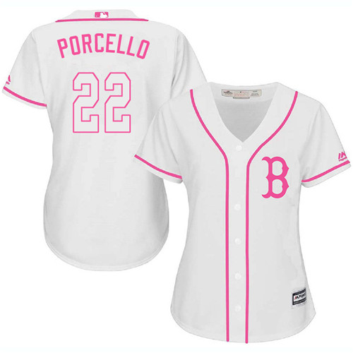 Women's Majestic Boston Red Sox #22 Rick Porcello Replica White Fashion MLB Jersey