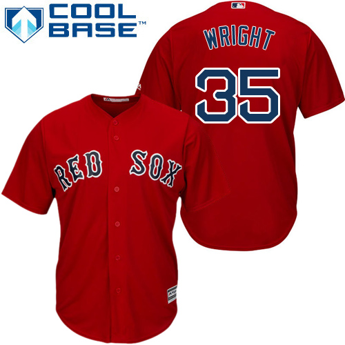 Youth Majestic Boston Red Sox #35 Steven Wright Replica Red Alternate Home Cool Base MLB Jersey