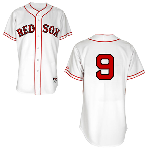 Men's Majestic Boston Red Sox #9 Ted Williams Authentic White 1936 Turn Back The Clock MLB Jersey